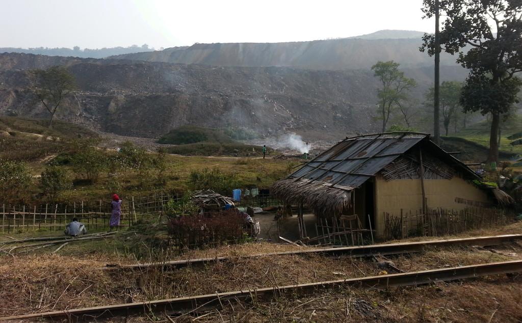 Coal mining along Stilwell Road