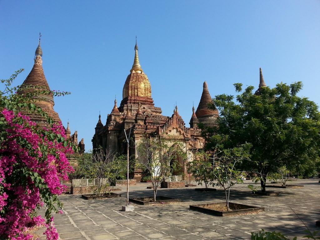Temple along main road.