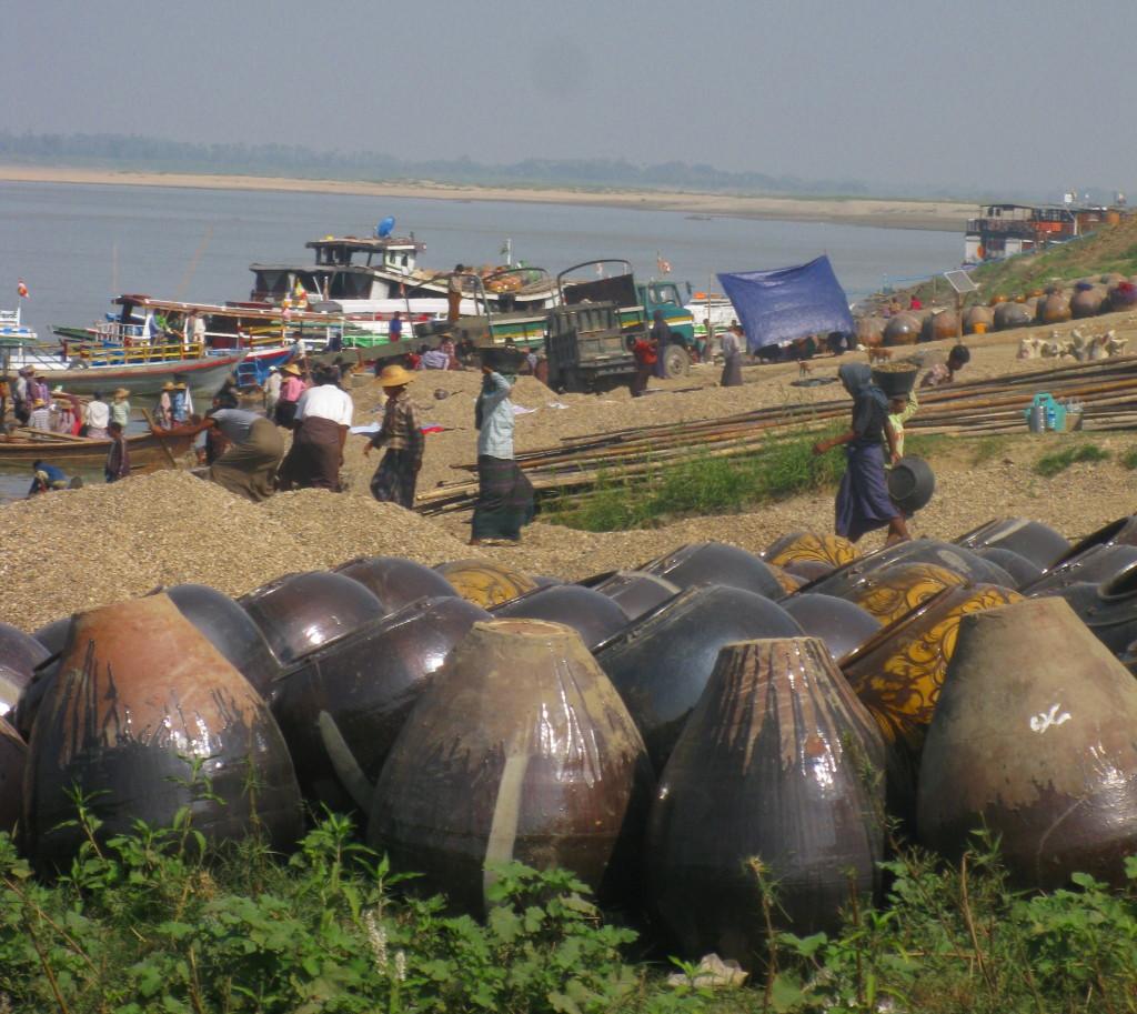 Irrawaddy River still serves brisk flow of travelers.