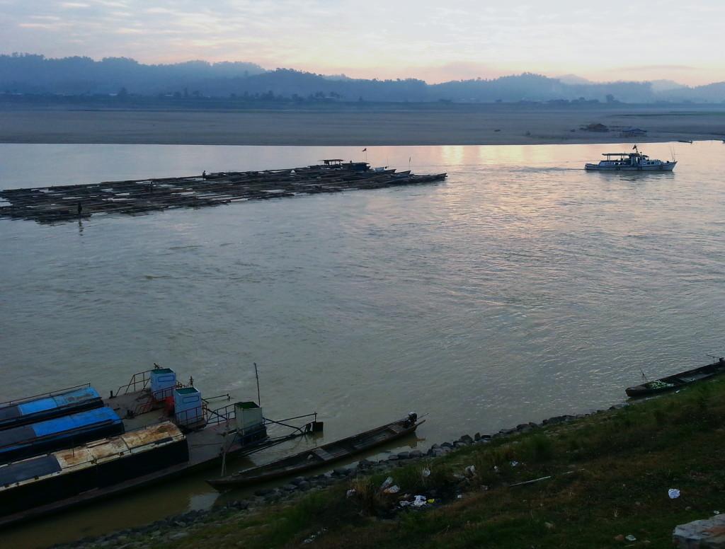 Teak raft. Sometimes a Great Notion: Chindwin River January 2014